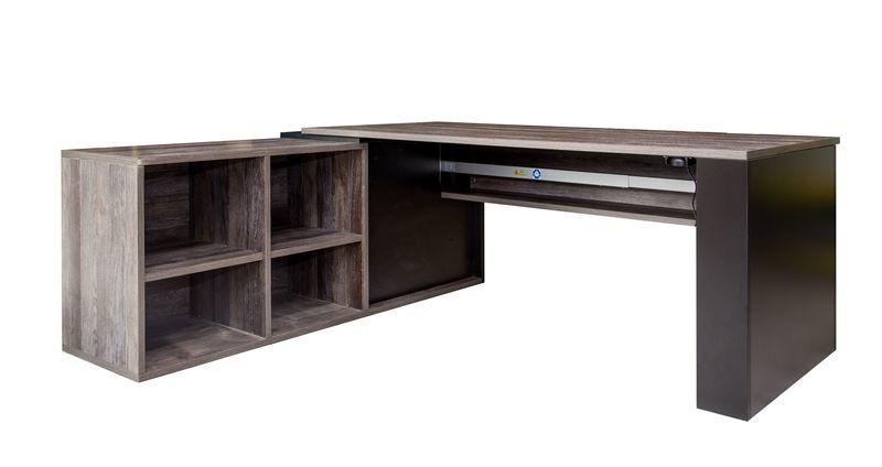 Winkelschreibtisch Höhenverstellbar mit Sideboard
