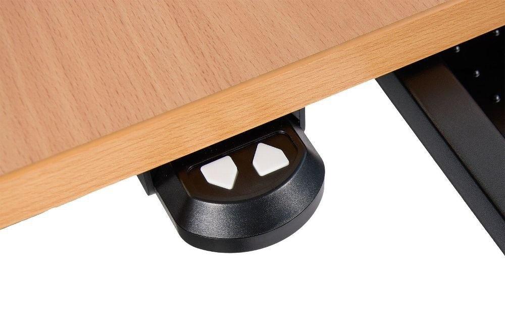 Winkelschreibtisch elektrisch höhenverstellbar 180x140 cm Bürotisch Ecktisch