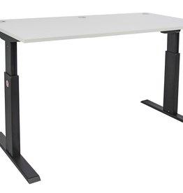 Schreibtisch höhenverstellbar von 72,5 - 118,5 cm mit schwarzem Gestell
