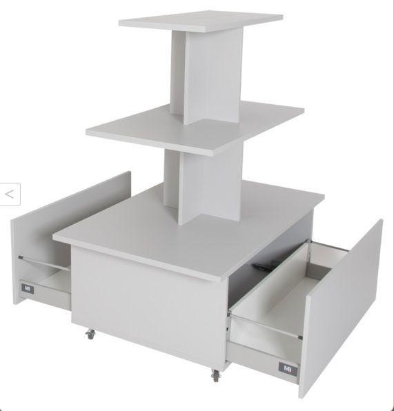 Verkaufspyramide mit Schubladen