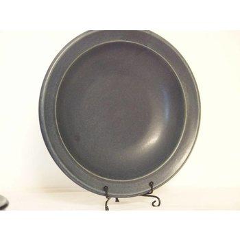 Weißiger Keramik Suppenteller Blau