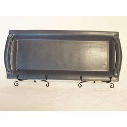 Weißiger Keramik Vorlegeplatte mit Griff einfarbig