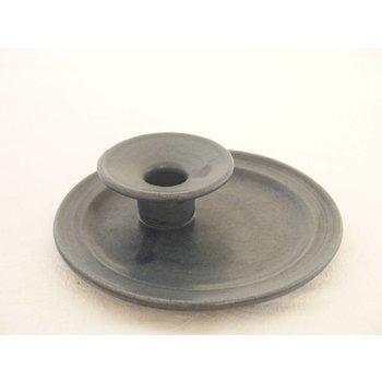 Weißiger Keramik Keramik-Leuchterteller klein blau