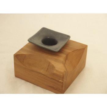 Weißiger Keramik Holz-Keramik-Leuchter