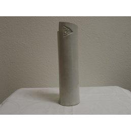 """Weißiger Keramik Vase rund Schlank """"Weiß"""""""