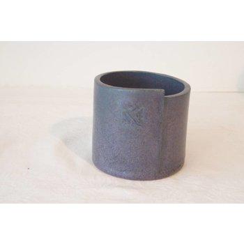 Weißiger Keramik Übertopf Blau / Durchmesser 9 cm
