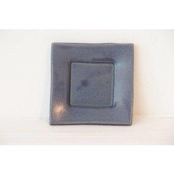 """Weißiger Keramik Leuchterplatte klein """"Blau"""""""