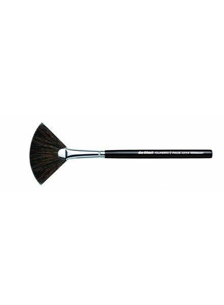 DaVinci Classic Blusher Fan Brush, Dark Brown, extra fine Mountain Goat Hair 4774