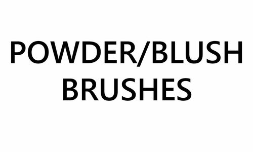 Powder/Blush Brushes