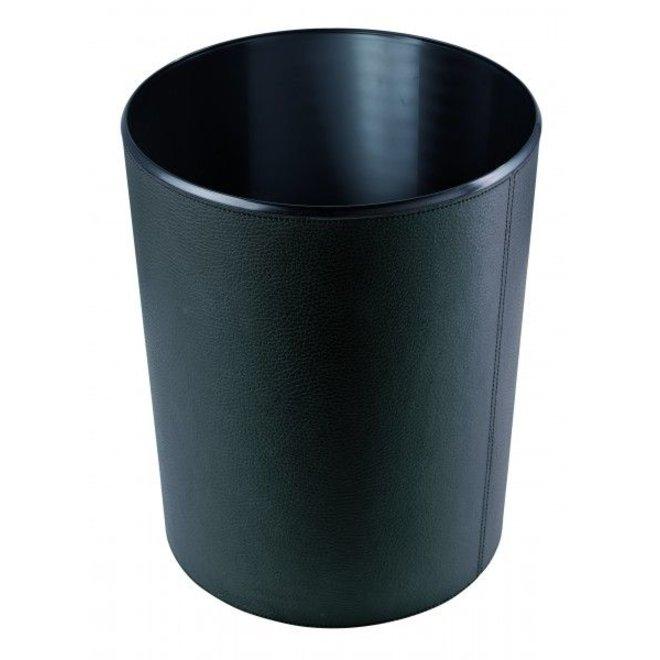 Prullenmand topkwaliteit rundleder - diverse kleuren