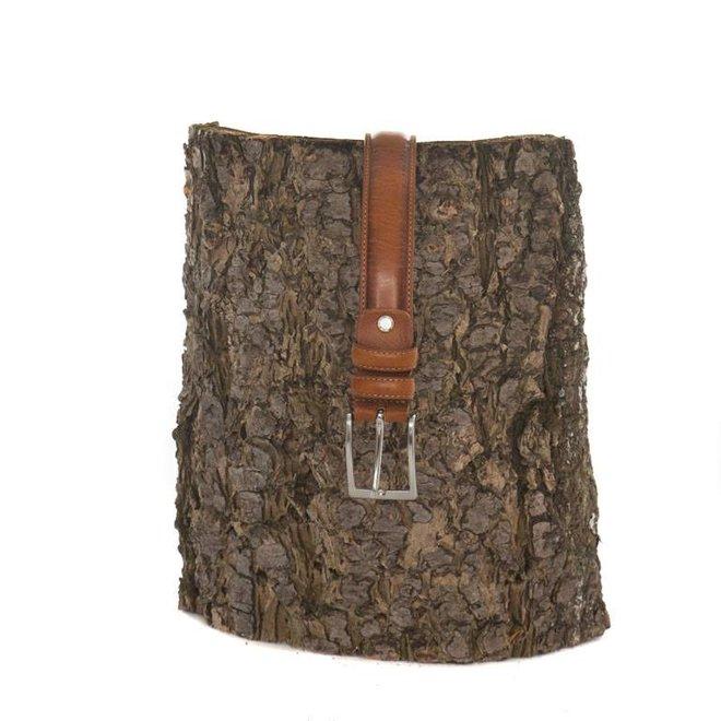 Leren riem geschikt voor pantalon/kostuum (2.8 cm breed)