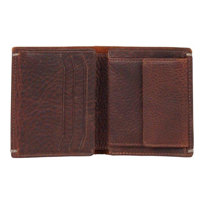 Leren portemonnee Burkely Antique Avery Billfold High Coin