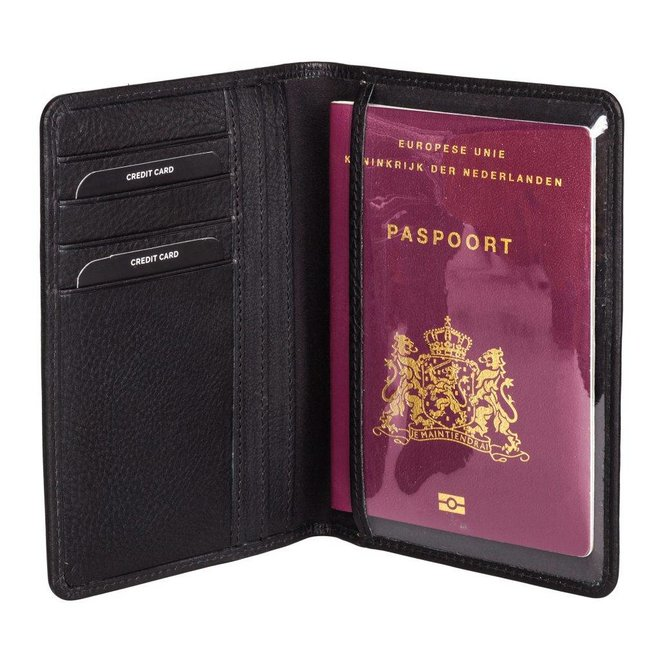 Lederen paspoort étui - in diverse kleuren