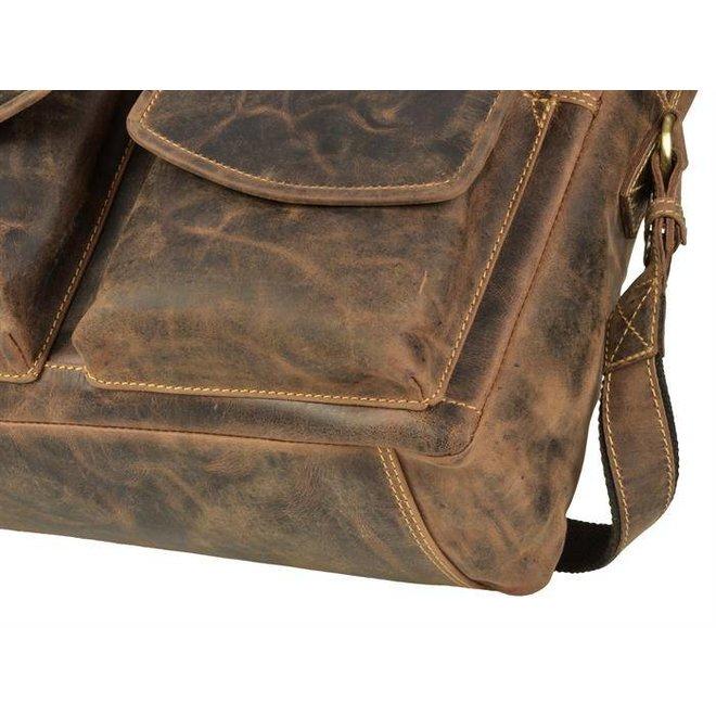 Leren businessbag/schoolbag Greenburry Vintage