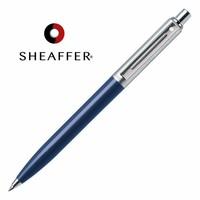 Brepols Balpen Sheaffer Sentinel blauw,  geborsteld chroom