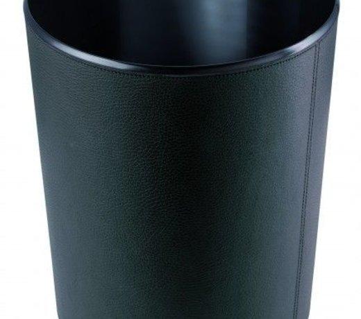 Prullenmand topkwaliteit rundleder in verschillende kleuren leverbaar!