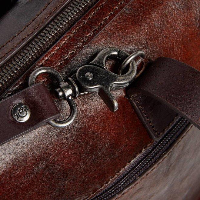 """Leren laptop schoudertas RFID C&B 15,4""""inch"""
