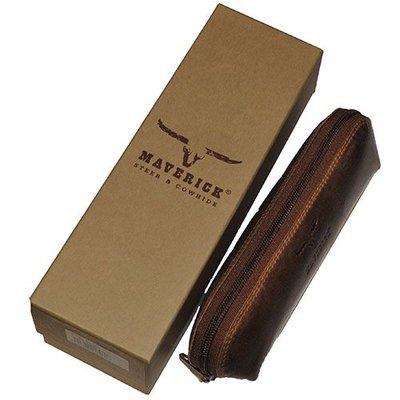 Maverick Leren pen étui Maverick Dalian  Mark II ovaal - Large