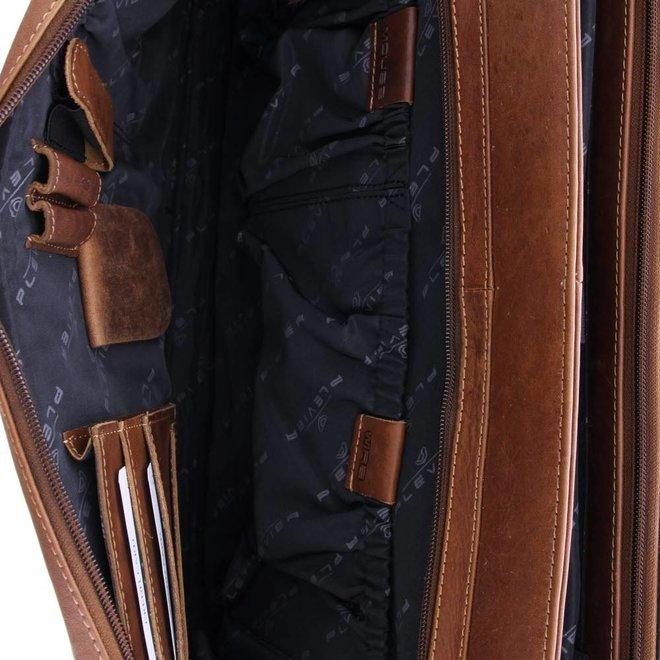 "Leren aktetas Plevier Morse 15.6""inch"