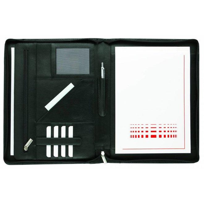 Lederen schrijfmap A4 voor Tablet