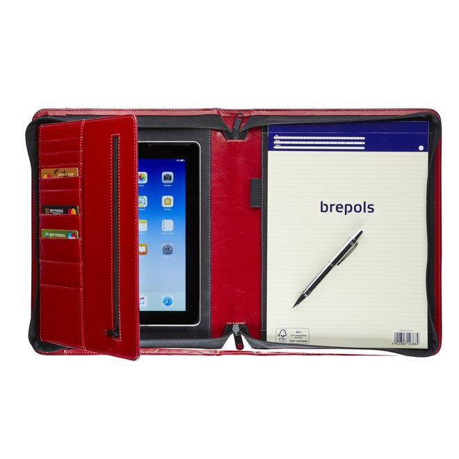 Luxe presentatiemap A4  met tablethouder en rits - in twee kleuren