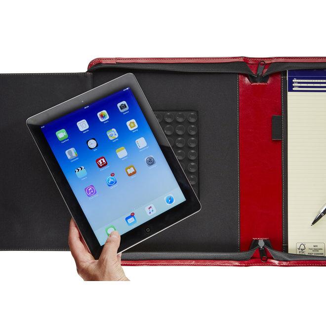 Luxe presentatiemap A4  met tablethouder en rits