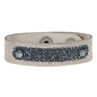 PimpsandPearls  Leren armband met Swarovski PimpsandPearls