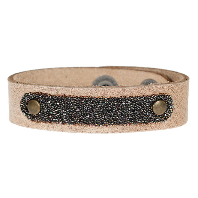 Leren armband met Swarovski PimpsandPearls