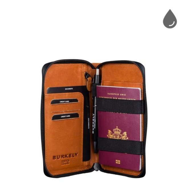 Leren waterbestendig paspoort portefeuille RFID - in diverse kleuren