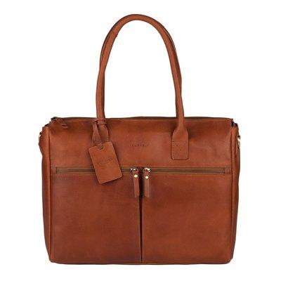 """Burkely Leren dames laptop/businessbag 15.6"""""""