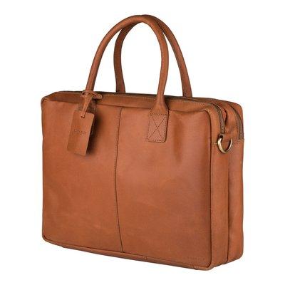 "Burkely Leren stoere, ruime workbag, 15.6"""