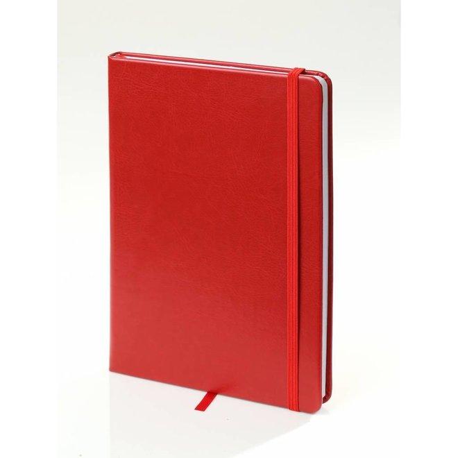 Twee notitieboekjes A5  met elastieken sluitband leeslint - in twee kleuren