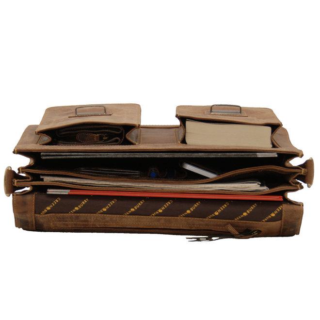 Leren laptoptas 15,4 inch