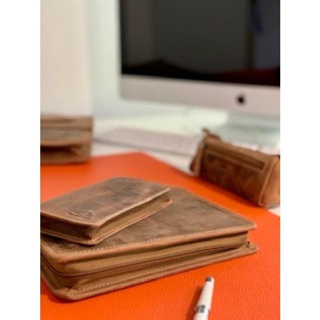 Stoere leren pen étui van Greenburry Vintage