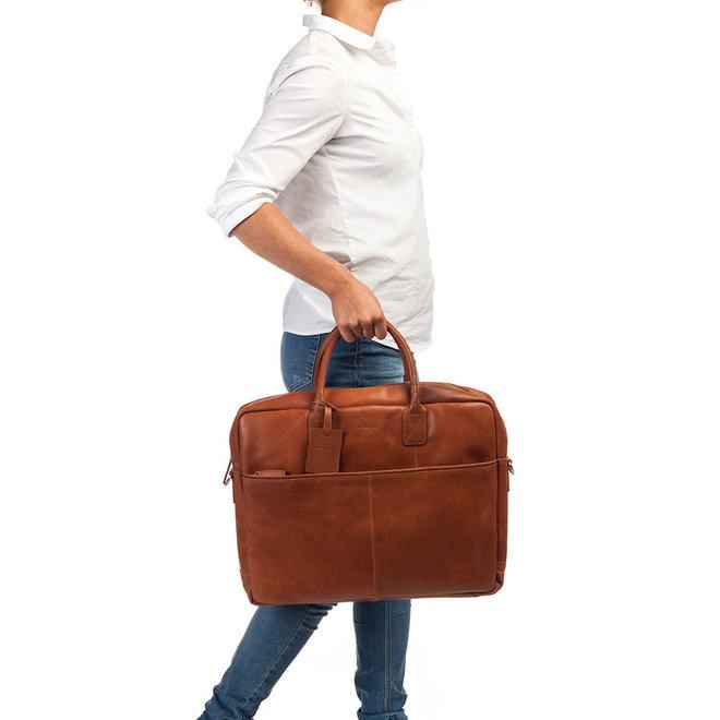 Leren laptopbag Burkely Vintage Worker 17 inch