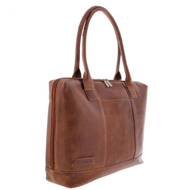 """Leren dames businessbag/laptoptas 15.6"""" inch  Fiera"""