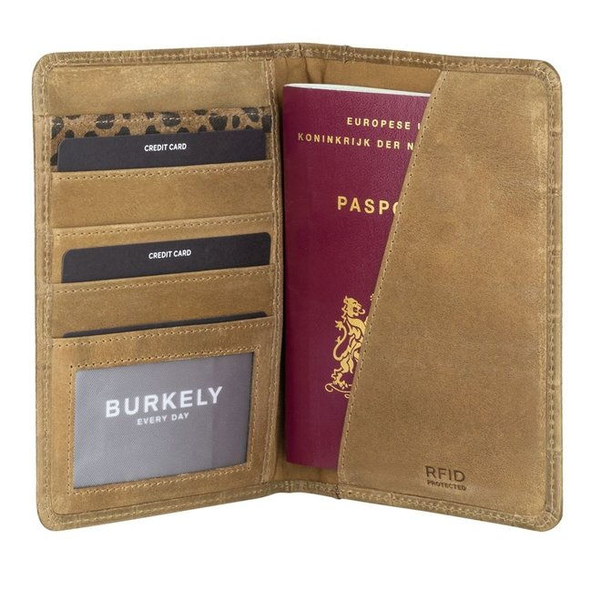 Leren paspoortcover RFID - in twee kleuren
