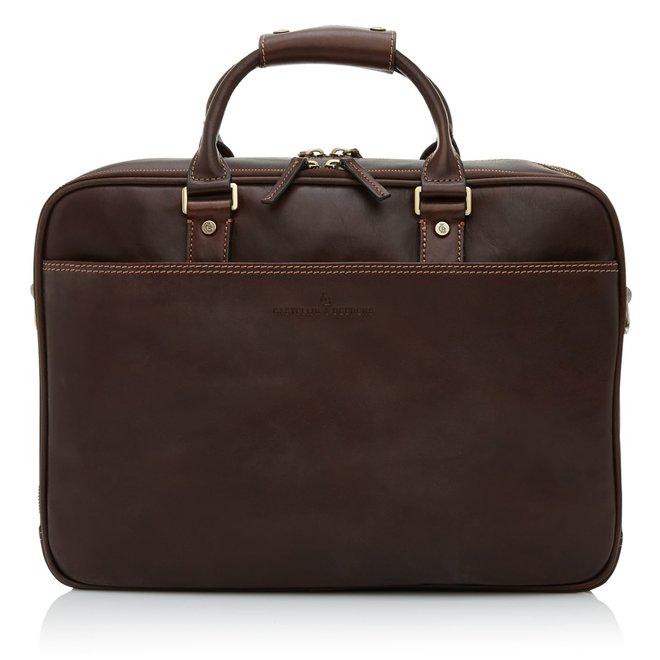 """Leren Castelijn&Beerens Verona laptoptas 15.6"""""""