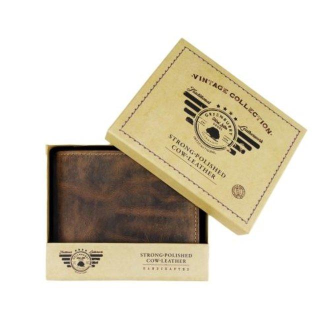 Lederen Vintage Portemonnee RFID