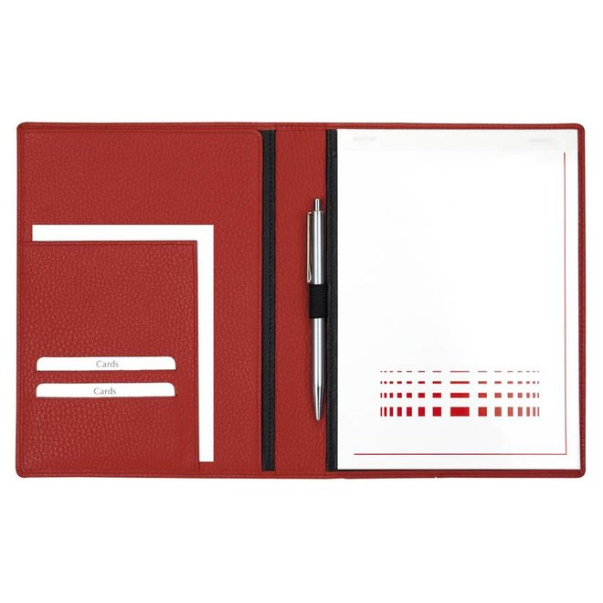 Leren schrijfmap A5 met gratis schrijfblok in diverse kleuren