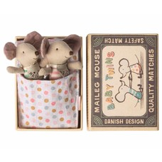Maileg Mouse, Baby Twins in Box