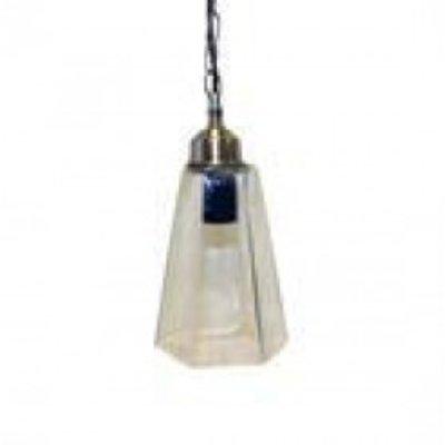 Glaslampe, sechseckig