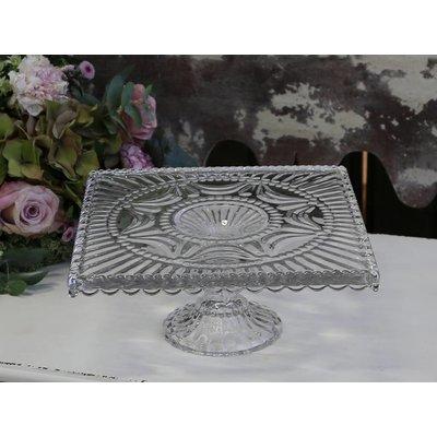 Chic Antique Tortenplatte mit Tropfenkante