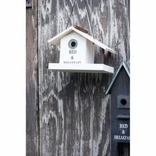 IB Laursen Vogelhaus mit Balkon in schwarz oder weiss