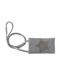 Greengate Phonebage Metal Star, warm grey Canvas