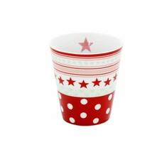Mug, red star/ dot