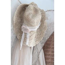 Jeanne d'Arc Living Large crocheted straw hat