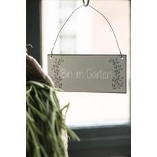 IB Laursen Metallschild, Bin im Garten