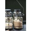 IB Laursen Glas Sevilla mit schwarzem Metalldeckel