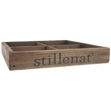 IB Laursen Kiste mit 4 Fächern , Stillenat